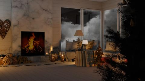 Its Stormy Out - Living room  - by KittyT6