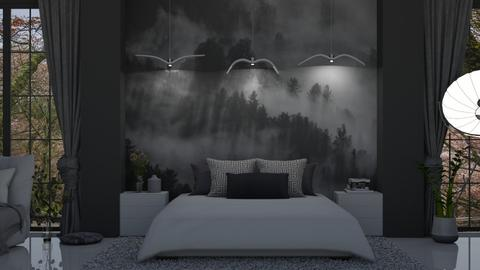 Forest Mural Bedroom - Bedroom  - by KittyKat28