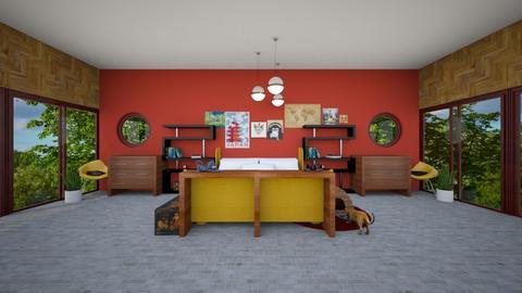 maximalist bedroom - by ReadMoreBooks