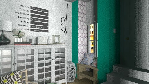 Green Hall In - Eclectic - by Maria Esteves de Oliveira