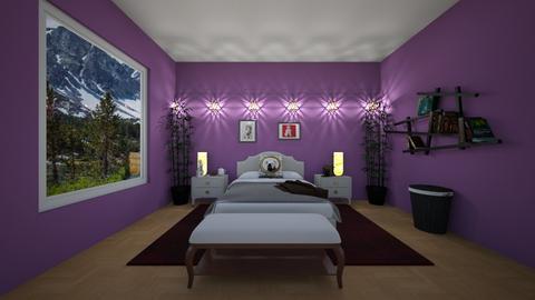 Purple design dog room - Bedroom  - by Puppylover5673