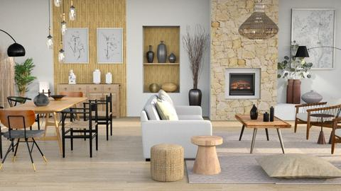 japandi home - Living room  - by Moonpearl
