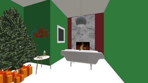 Christmas Living Room  - Minimal - Living room  - by RosieDraws