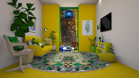 blue green yellow - Living room - by tiana24