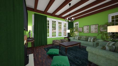 Green Living Room - Living room  - by SammyJPili