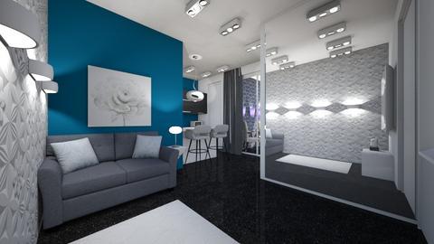 aprt morando sozinha - Glamour - Living room  - by kelly lucena