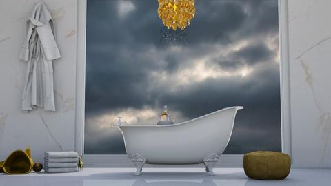 White and Gold Bath - by khayla simpson