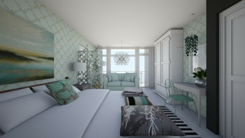 Bedroom redesignb9 - Modern - Bedroom  - by catcarla