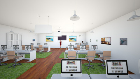 computer room - Modern - Office  - by Mahattana Sanburan