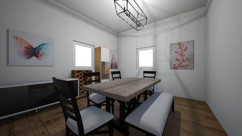Blue bedroom dinning room - Modern - Bedroom  - by Annabel C
