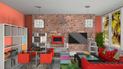 Cubo Living - Retro - Living room  - by Leticia Camargo_175