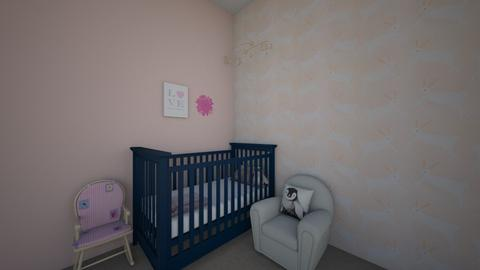 pink baby room - Kids room  - by the mysterieuse ms f