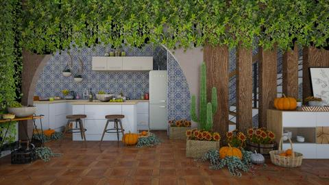 Autumn patterns - Kitchen  - by FoxxyDeco39