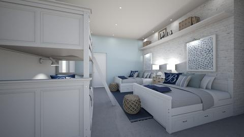 Coastal bedroom boys - Bedroom - by Diamond Interiors