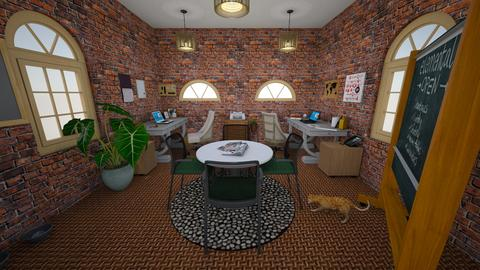 Rustic office - Rustic - Office  - by person26