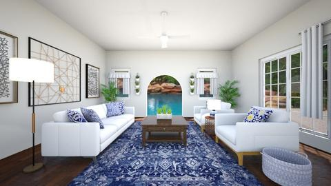 Blue views living room - Modern - Living room  - by runnninggirl04