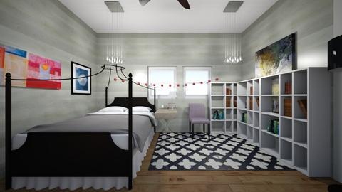 attic bedroom - Bedroom  - by PennyLover