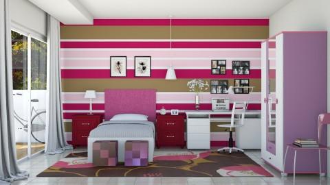 Quarto da Menina - Kids room  - by Alecio