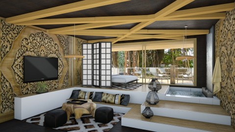 Zen - Bedroom  - by chania
