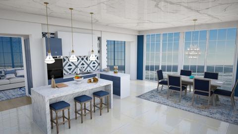 Blue Kitchen - Kitchen  - by Feeny