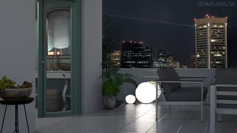 At night on the terrace - by milyca8