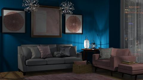Royal blue - Modern - Living room  - by Angelic_Cuteness136