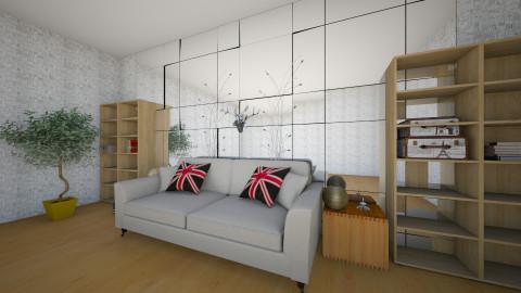 Mirror wall - Living room - by carol86dias
