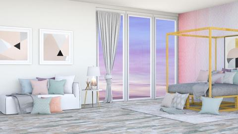 Pastel Colours - Bedroom  - by TropicalWeed