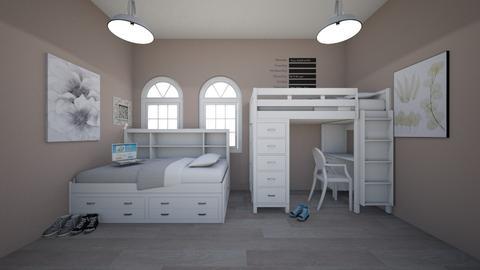Dorm Room - Bedroom - by Chicken202