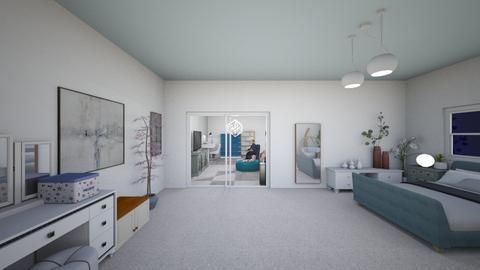 blue sea - Bedroom  - by Melanie25