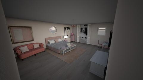 Blush room - Feminine - Bedroom  - by elliegrandee