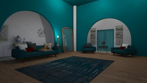 Teal Arches - Living room  - by 00l0ps