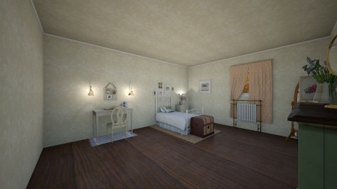 Vintage Boarding House - Vintage - Bedroom  - by KD15