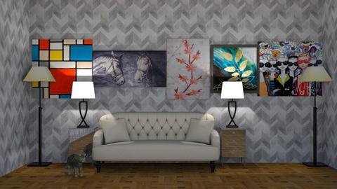 Modern house - Living room - by equestrian pusheen fan