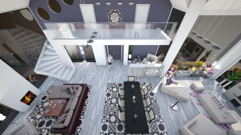 Room from above - Eclectic - Living room  - by bigmama14