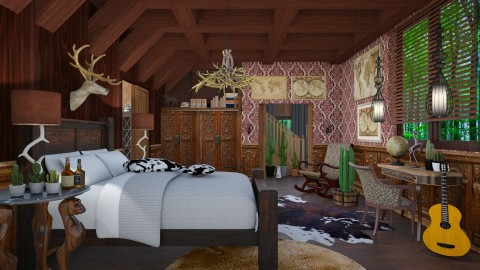wild west bedroom - Eclectic - Bedroom  - by Ida Dzanovic