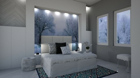 Snowy Dreams - Modern - Bedroom  - by millerfam