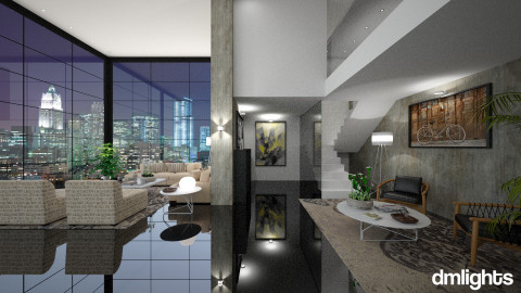 Mannahatta - Modern - Living room - by DMLights-user-982267