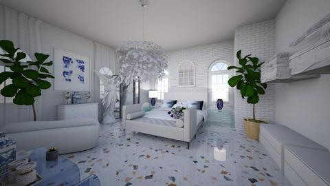 greek style bedroom  - Bedroom  - by shirinaelmorsy