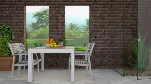 Glass and Brick - Rustic - Dining room  - by stephendesign