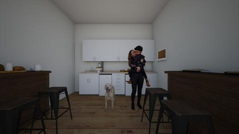 moeder met zoon in keuken - Modern - Kitchen  - by sharlena