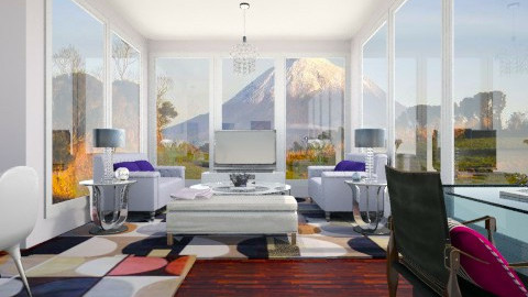 purple livingroom - Retro - by tacao