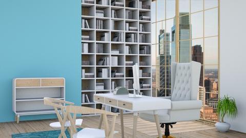 Blue lawyers office - Modern - Office  - by matildabeast