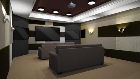 Modern Cinema  - Living room  - by Riordan Simpson