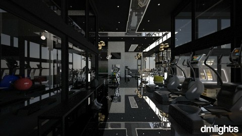 gym with black celling - Modern - by DMLights-user-982918