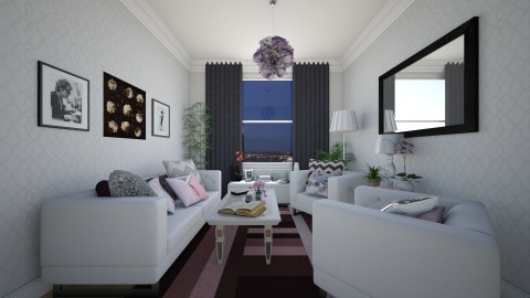 Chic Apartment  - Glamour - Living room  - by Jodie Scalf