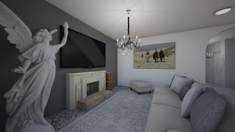 justyny projekt - Living room - by OliwkaK