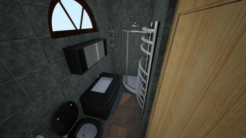 Black - Bathroom - by Blueflamingo