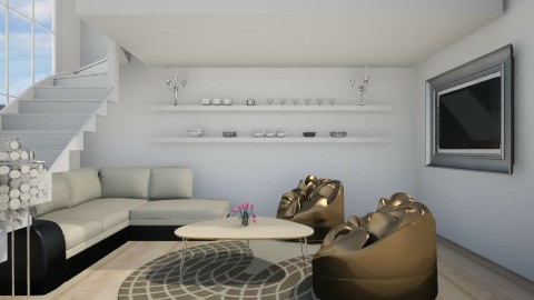 Luxurious Loft - Glamour - Living room - by Haecinta