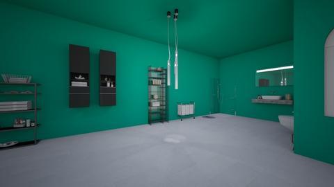 Tealy Bath - Bathroom - by kfoulk1198